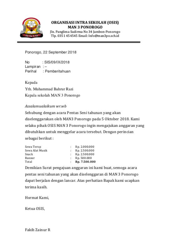 update 2019 contoh lengkap surat dinas sekolah