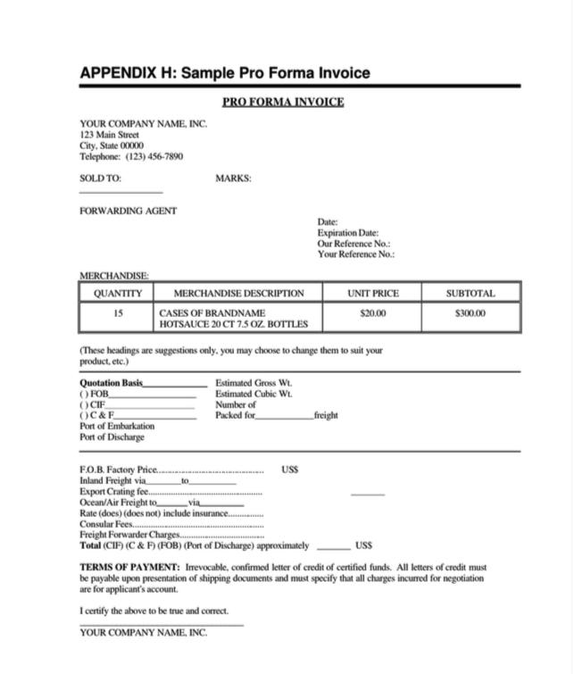 contoh invoice bahas inggris